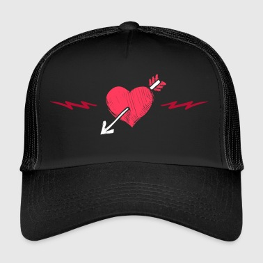 Love Love Heart Heart Grunge Style Lover Arrow - Trucker Cap