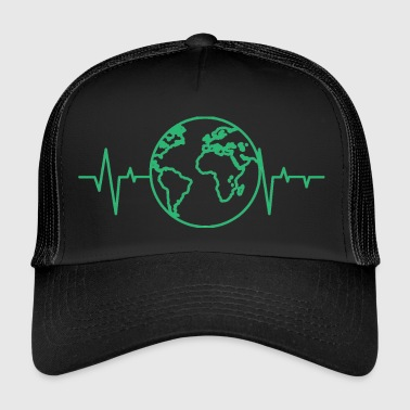 Earth Day / Earth Day: heart rate of the earth - Trucker Cap