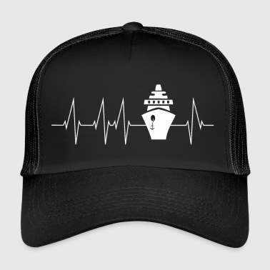 Cruise cruise ship heartbeat gift - Trucker Cap
