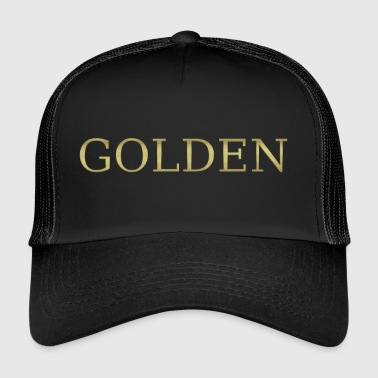 gold golden sweet gold gold gold heart - Trucker Cap