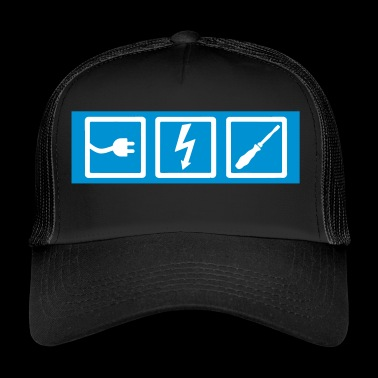 electrician, professions, electrician occupation, electrician - Trucker Cap