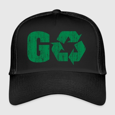 Earth Day Recycle Go Green - Trucker Cap