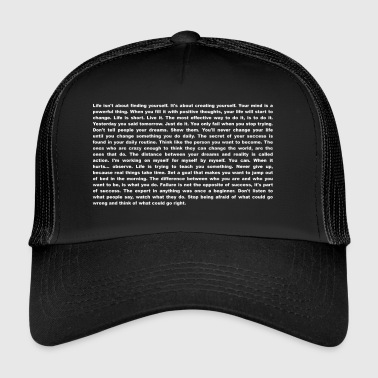Motivatie en inspiratie - T-shirt - Trucker Cap