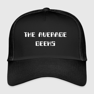 average_geeks_large_white - Trucker Cap