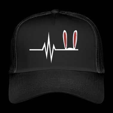 My heart beats for easter bunny Easter eggs - Trucker Cap