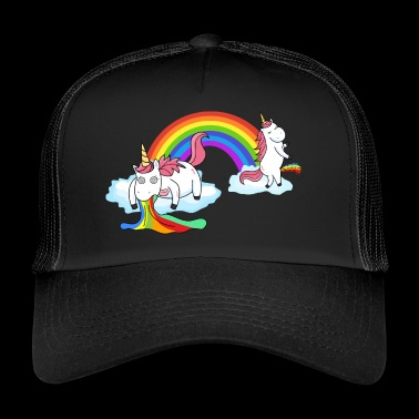 Unicorn pissing while peeing - Trucker Cap