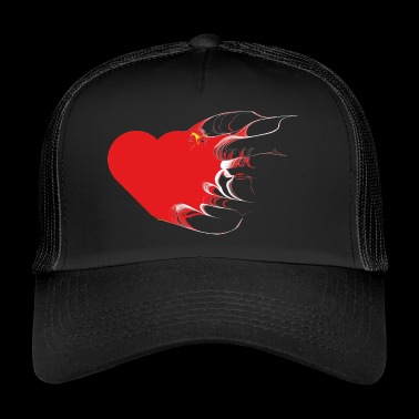version modifiée d'un coeur - Trucker Cap