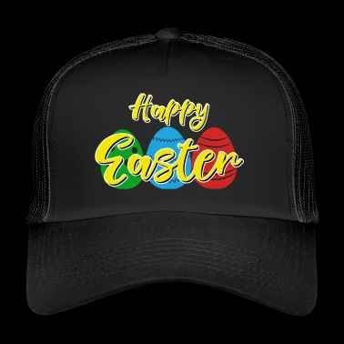 Happy Easter - Easter bunny Easter eggs celebration gift - Trucker Cap