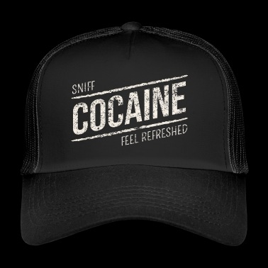 Sniff Cocaine - Cocaine Drugs - Trucker Cap
