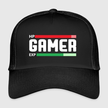 Gamers met Health and Experience Bar! - Trucker Cap