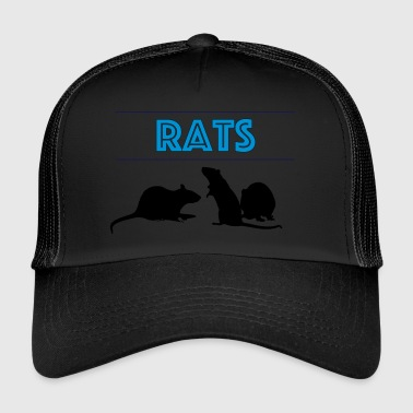 Rats With Rats' Silhouette - Trucker Cap