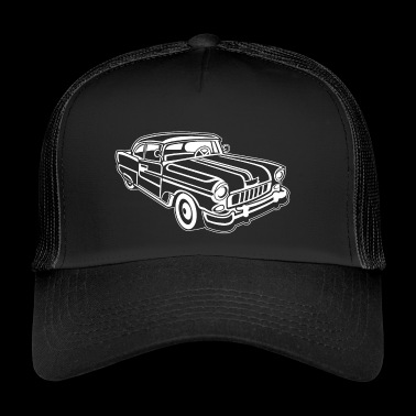 Chevy Cadilac / Muscle Car 02_white - Trucker Cap