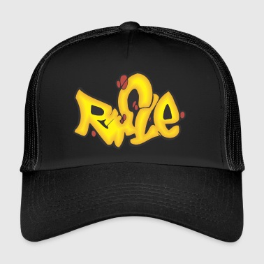 rifle graffiti - Trucker Cap