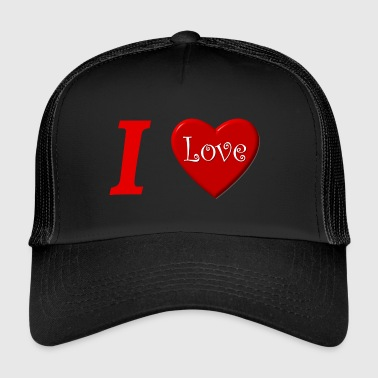 I love I love in Love - Trucker Cap