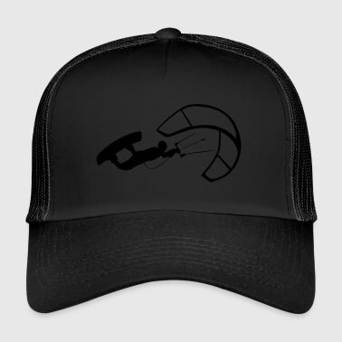 Kitesurfer in kiteboarding with Kiteboard - Trucker Cap