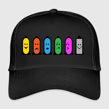 Safely First - Smiley - Smilie - Kondom - Trucker Cap