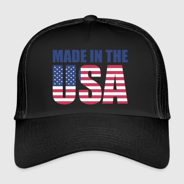 USA Ameryka Flag Stars and Stripes Made in USA - Trucker Cap