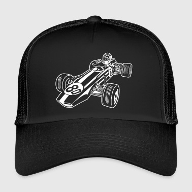 Race Car / Race Car 02_white - Trucker Cap