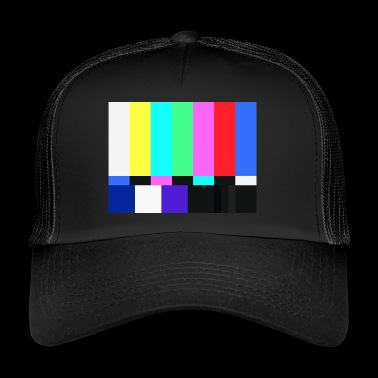 Test Card.Test Pattern. Retro Television Crew.SALE - Trucker Cap