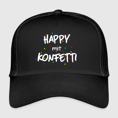 ++Happy mit Konfetti++ - Trucker Cap