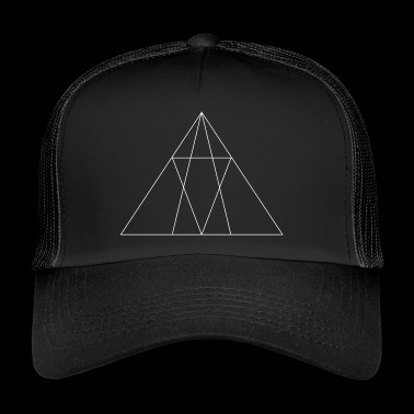 Abstract design of several triangles - Trucker Cap