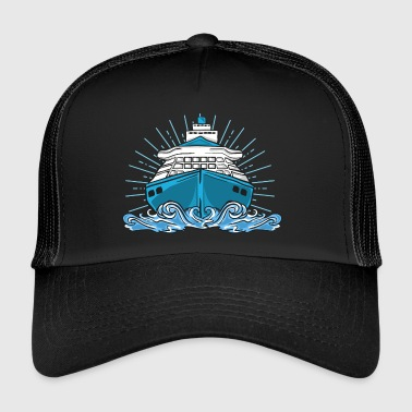 Ship cruise lake sea cruise ship boat - Trucker Cap