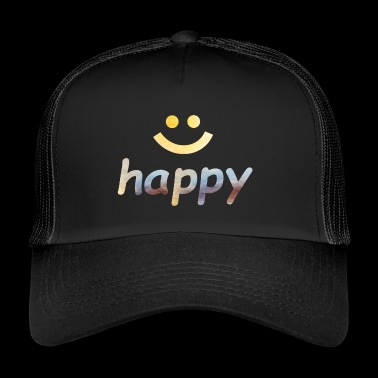 Happy, happy, happy, word - Trucker Cap