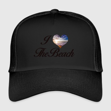 I LOVE THE BEACH - Trucker Cap