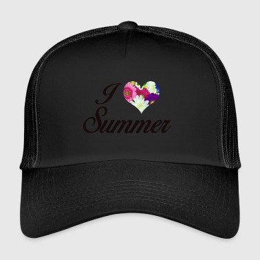 I LOVE SUMMER FLORAL - Trucker Cap