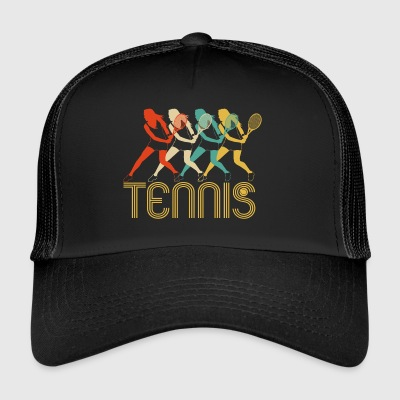 Retro Pop Art Tennis Players,Fan Club Tennis Gifts - Trucker Cap