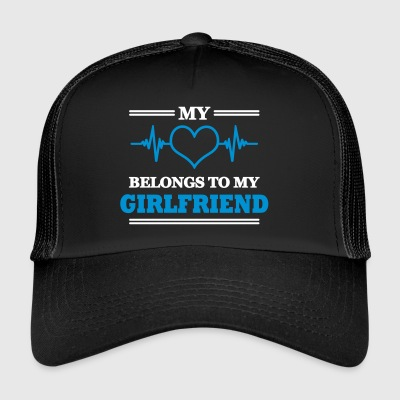My heart belongs to my girlfriend - Trucker Cap