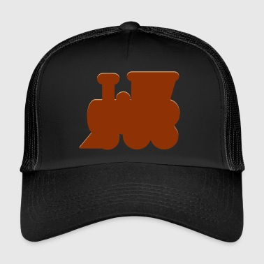 Locomotive, steam locomotive - Trucker Cap