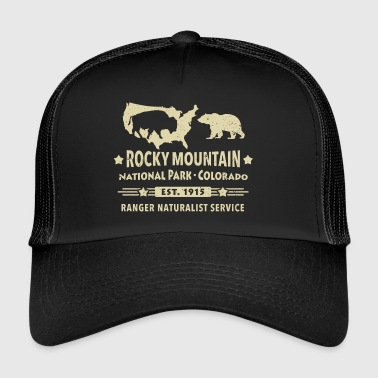 Rocky Mountain Nationalpark Berg Bison Grizzly Bär - Trucker Cap