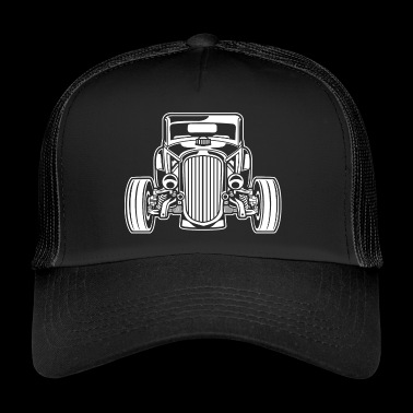 Hot Rod / Rat Rod 07_weiß - Trucker Cap