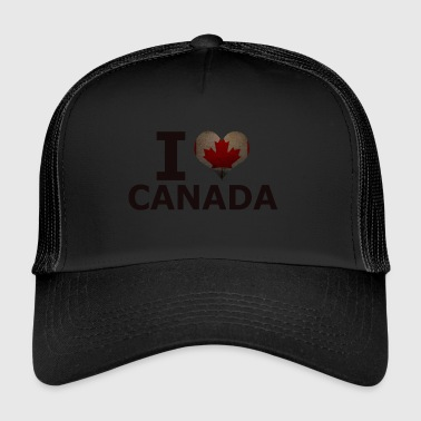 I LOVE CANADA FLAG - Trucker Cap