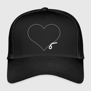 Heart Cut Heart Cut Template - Trucker Cap