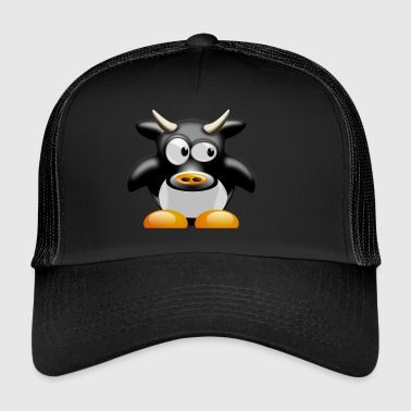 Funny cow with horns - Trucker Cap