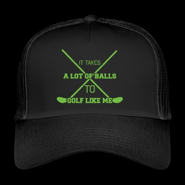 Golf Caddy Golf Course Putter Yardage Gift Tee - Trucker Cap