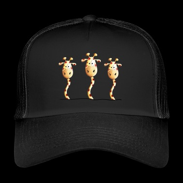 Giraffes are Best Friends - Giraffe - Serengeti - Trucker Cap
