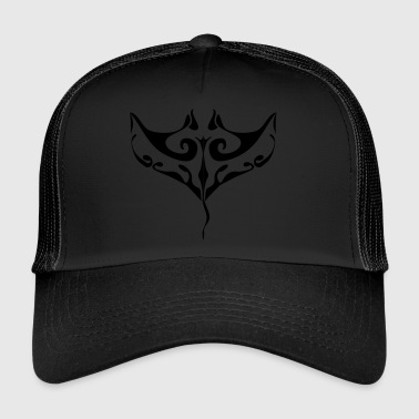 manta ray tatovering - Trucker Cap