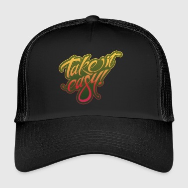 Take it easy giallo-rosso - Trucker Cap