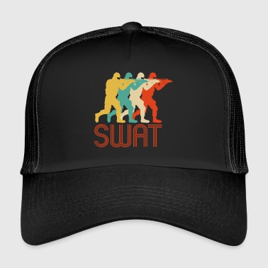 Retro Pop Art Swat Team. CO19. Poliisi - Trucker Cap