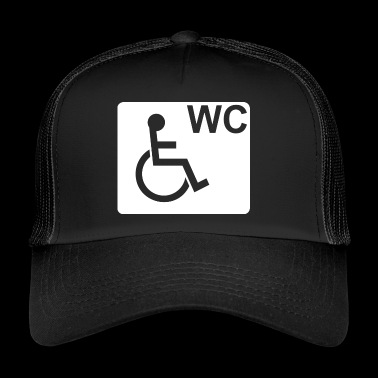 Wheelchair WC Fair Gift White - Trucker Cap