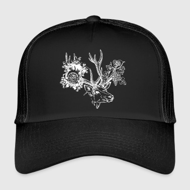 Black Forest hart, clock, grapes - Trucker Cap