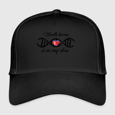 love my dns dna land country North korea - Trucker Cap