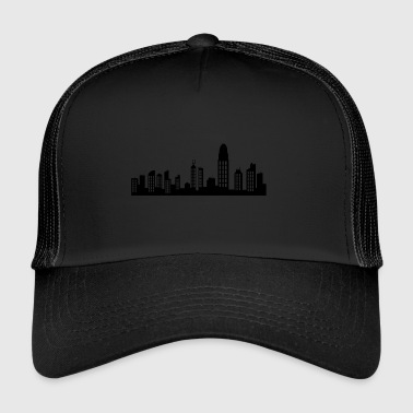 hong kong skyline - Trucker Cap