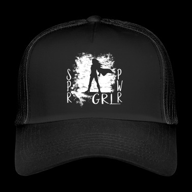 Super Power Girl Super Hero Girl Power prezent - Trucker Cap
