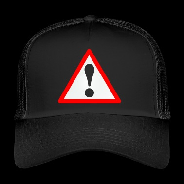 Warning sign / Exclamation mark / Warning / Attention - Trucker Cap