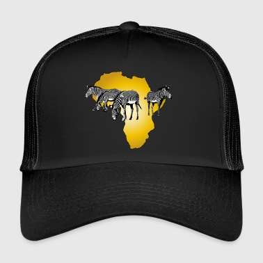 The Spirit of Africa - Zebras African Serengeti - Trucker Cap