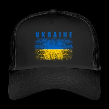 Ukraine Flag 008 AllroundDesigns - Trucker Cap